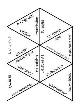 D'accord 2 Unité 7  Vocabulary Puzzle: Les arts