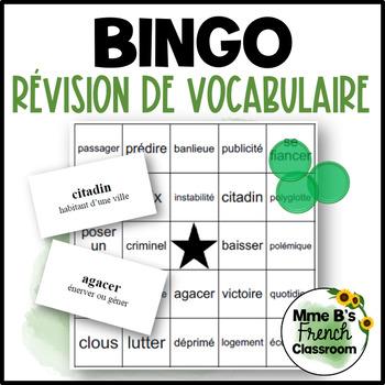 D'accord 3 Bingo: Révision de vocabulaire Leçons 1 à 5
