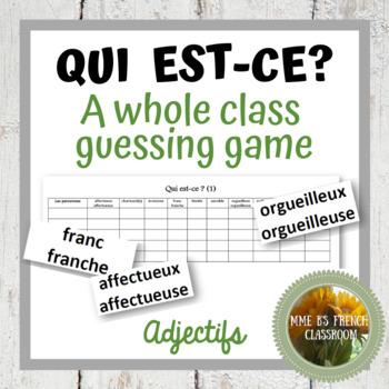 D'accord 3 Leçon 1: Qui est-ce? A speaking game