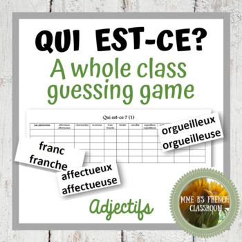 D'accord 3 Leçon 1: Qui est-ce? A speaking game using chapter vocabulary