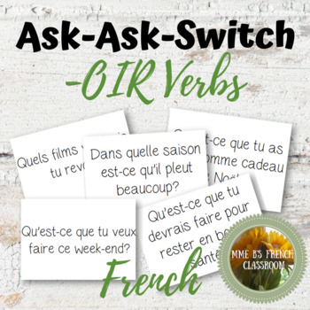 D'accord 3 Leçon 9: Quiz-Quiz-Trade: a whole class speaking activity