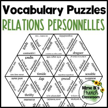 D'accord 3 Leçon 1 Vocabulary Puzzle: Les relations personnelles
