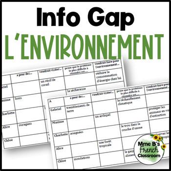 D'accord 3 Leçon 10 Info Gap with vocabulary: environnement