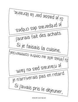 D'accord 3 Leçon 10 Les phrases conditionnelles:Si clause puzzle