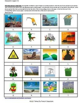 D'accord 3 Leçon 10: Environnement partner matching game