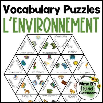 D'accord 3 Leçon 10 Vocabulary puzzle: notre monde
