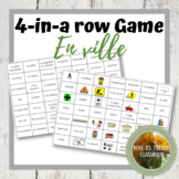 D'accord 3 Leçon 2: En ville 4-In-A-Row vocabulary Game