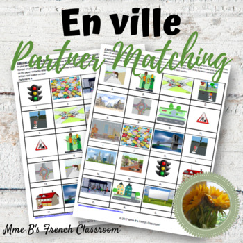 D'accord 3 Leçon 2: En ville partner matching activity