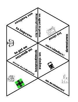 D'accord 3 Leçon 2: En ville vocabulary puzzle
