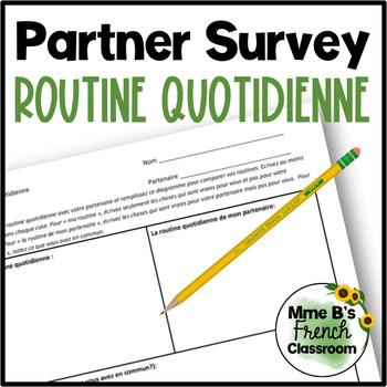 D'accord 3 Leçon 2: La routine quotidienne partner survey