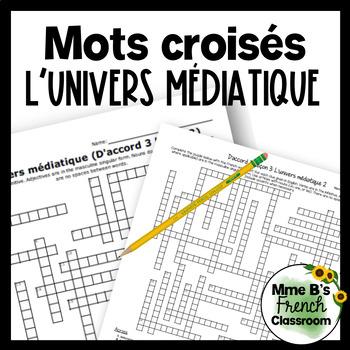 D'accord 3 Leçon 3 L'univers médiatique Crossword puzzle