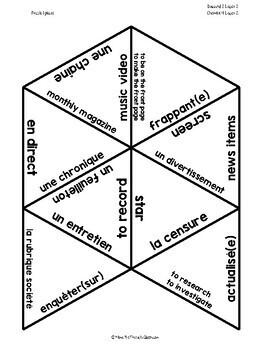 D'accord 3 Leçon 3 Vocabulary Puzzle: l'univers médiatique