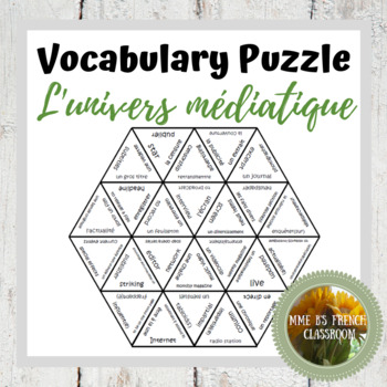 D'accord 3 Leçon 3 Vocabulary Puzzle: l'univers médiatique
