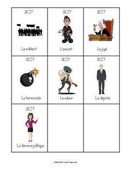 D'accord 3 Leçon 4: Qui? Quoi? Où?  A clue-style game