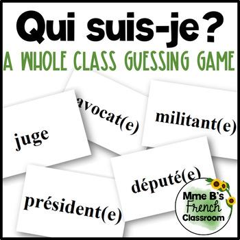 D'accord 3 Leçon 4: Qui suis-je?  A whole class speaking activity