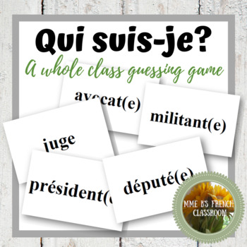 D'accord 3 Leçon 4: Qui suis-je?  A whole class speaking activity