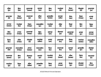 D'accord 3 Leçon 6 Connect 4-style game: verbs in the subjunctive
