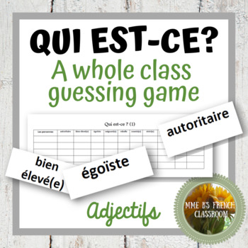 D'accord 3 Leçon 6: Qui est-ce? A whole class speaking game