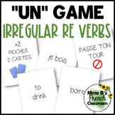 "D'accord 3 Leçon 6: ""UN"" card game with irregular RE verbs"
