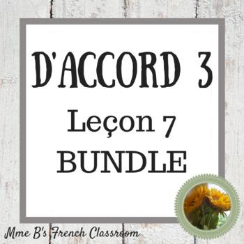 D'accord 3 Leçon 7 Bundle