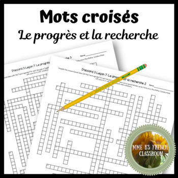 D'accord 3 Leçon 7: Le progrès et la recherche Crossword puzzle