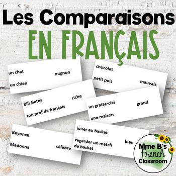 D'accord 3 Leçon 7: Les comparaisons