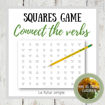 D'accord 3 Leçon 7 Squares Game Connect the verbs: futur simple