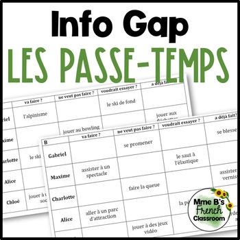 D'accord 3 Leçon 8 Info gap: Les passe-temps
