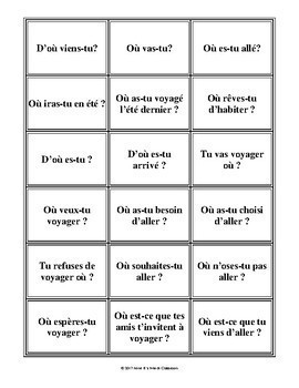 D'accord 3 Leçon 8: Où vas-tu?  Practicing prepositions with geographical names