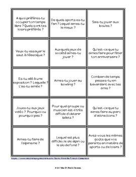 D'accord 3 Leçon 8: Questions de Discussion
