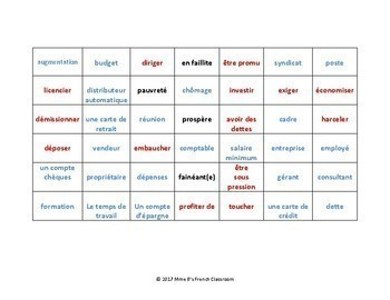 D'accord 3 Leçon 9 Connect 4-style game for practicing vocabulary