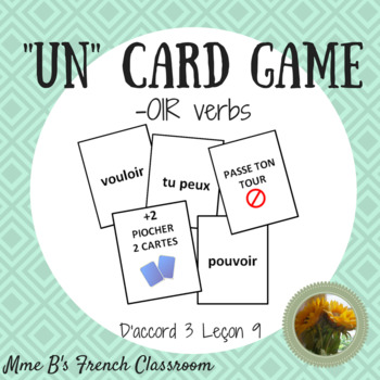 "D'accord 3 Leçon 9: ""UN"" card game with -OIR verbs"