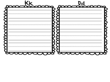 D and K beginning sound sort