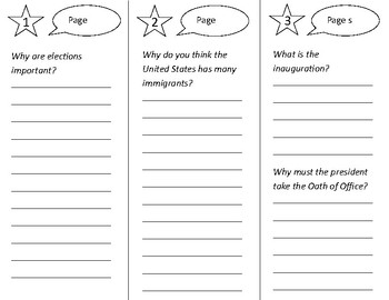 D is For Democracy Trifold - Open Court 2nd Grade Unit 5 Lesson 5
