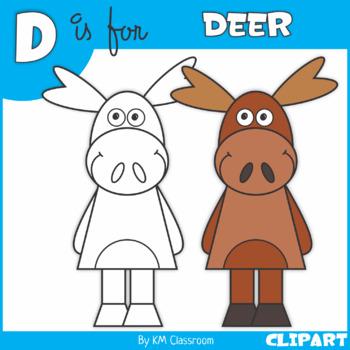 D is for Deer Clip Art