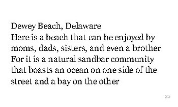 D is for Delaware flash cards