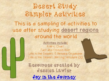 Desert Biome Activity Packet