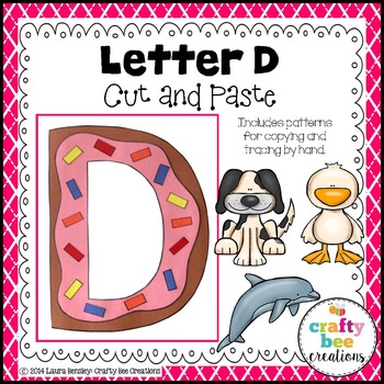 Letter D (Donut) Cut and Paste