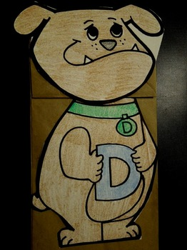 D is for dog paper bag puppet