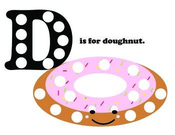 D is for doughnut pom pom mat