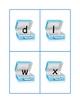 D, l, W, X Matching Game