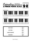 D minor Penta Scale - Preparatory B Technical Requirements