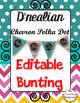 D'nealian Alphabet Posters & Worksheets {Chalkboard Chevron Polka Dot}