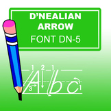D'nealian Arrow Lined Font