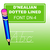 D'nealian Doted Lined Font