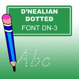 D'nealian Dotted Font