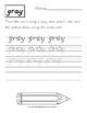 D'nealian Handwriting Practice: Color Words