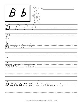 D'nealian Handwriting Practice: Letters and Words