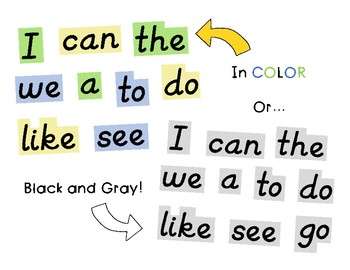 D'nealian Kindergarten Word Wall Word Cards (135 Words- Fry's, Dolch, Star)