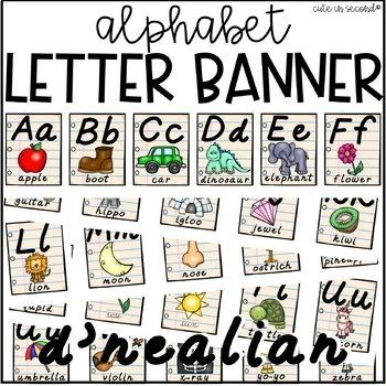 D'nealian Letter Alphabet Banner